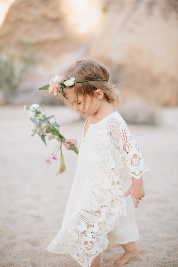 Adorable boho beach flower girl