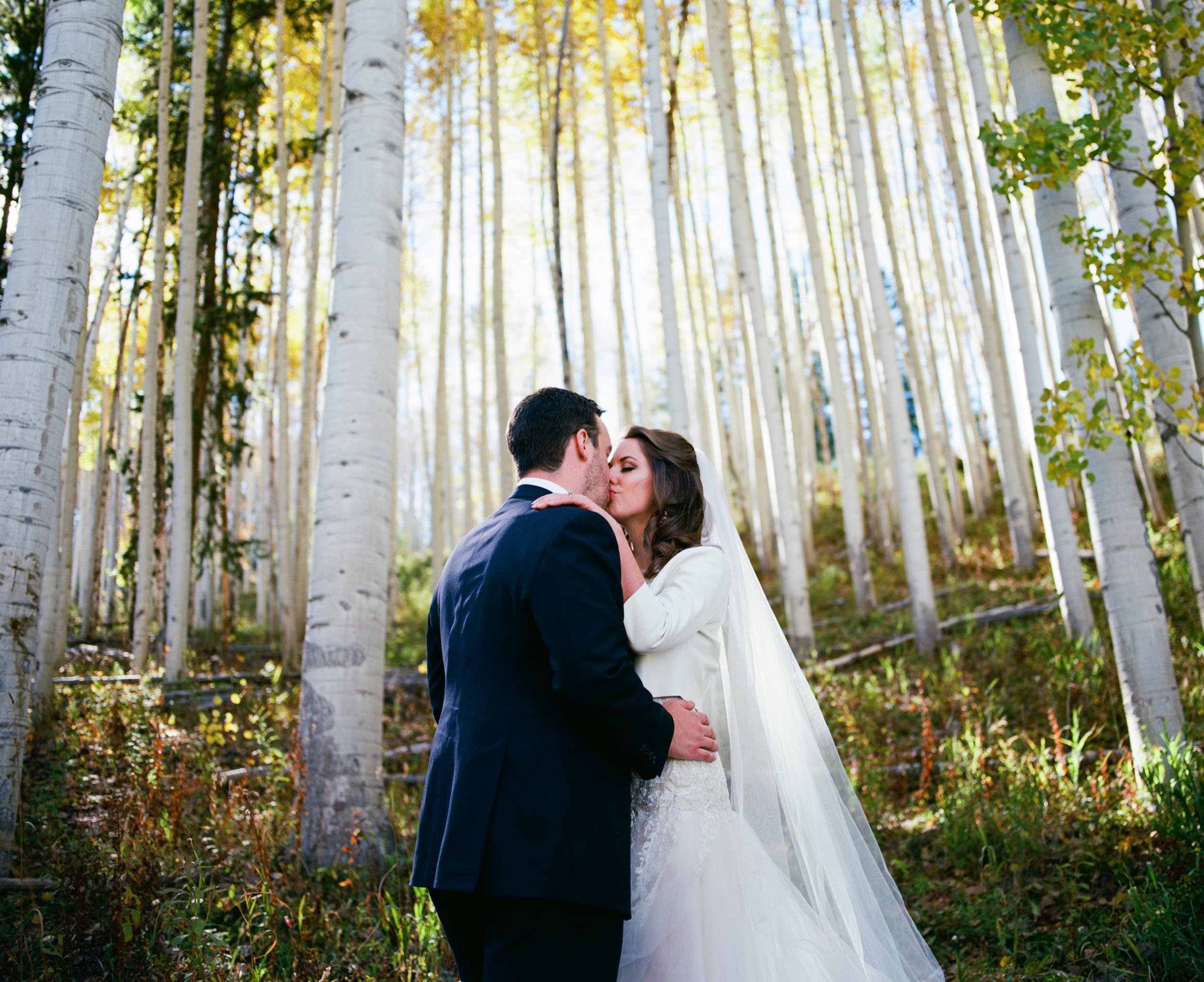 Kelly + Josh   Fall wedding at the Park Hyatt Beaver Creek   Dress by Reem Acra from Little White Dress   Ash Imagery