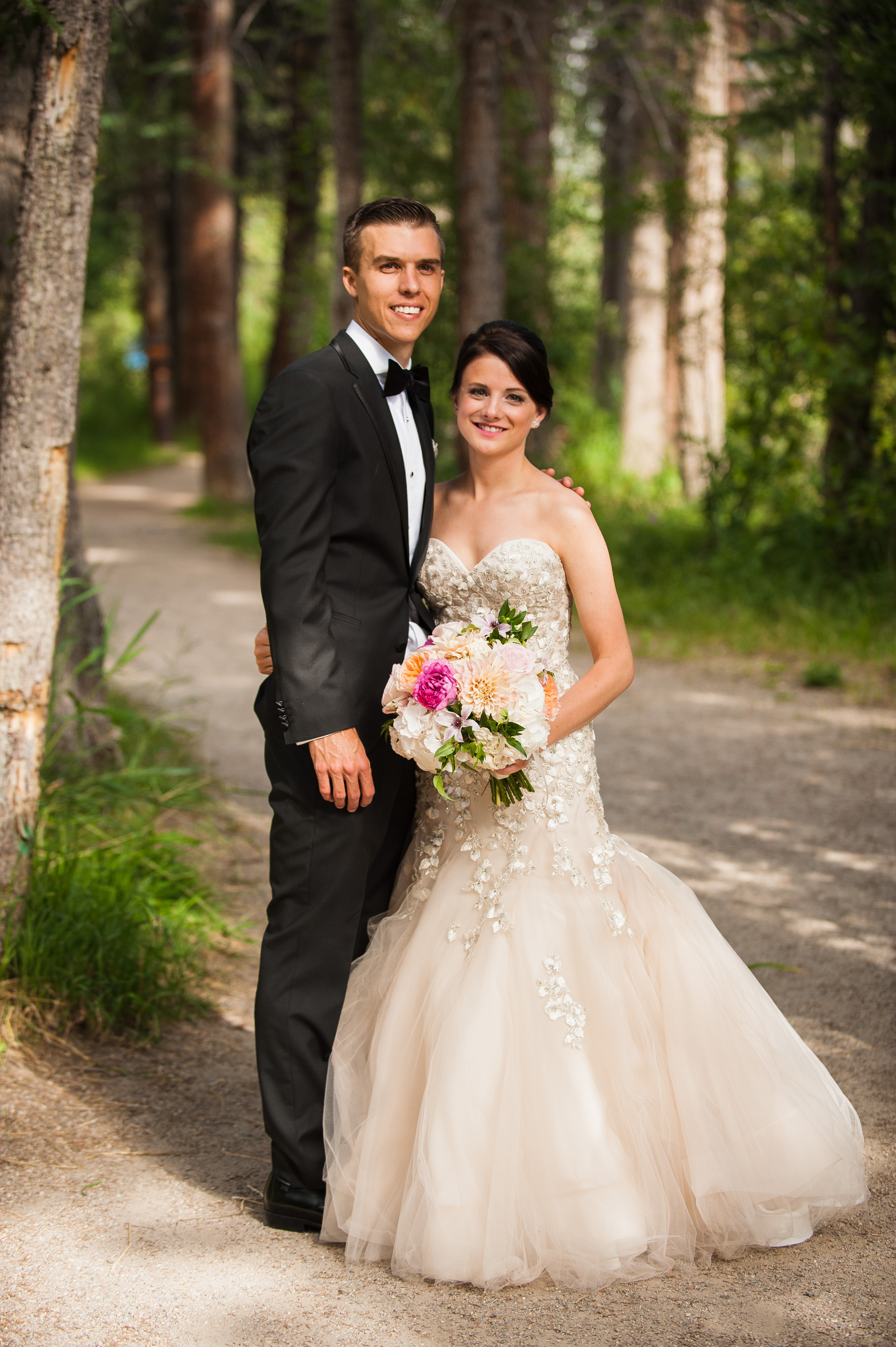 Jessica + Derek's wedding at the Four Seasons Vail | Gown by Liancarlo from Little White Dress Bridal Shop in Denver | Doug Treiber Photography
