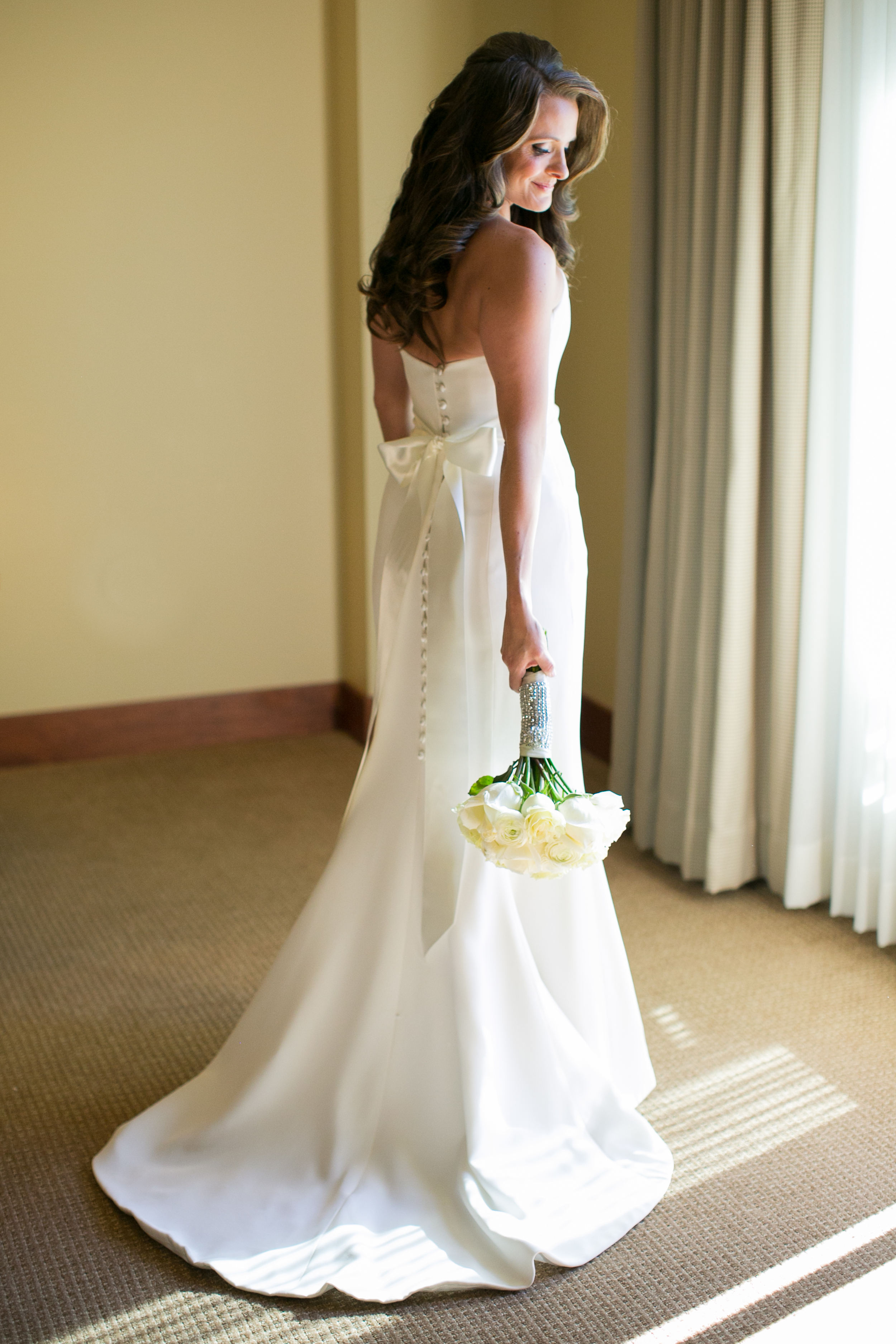 Misty in a Sassi Holford gown at her Vail wedding // photo by Cassidy Brooke Photography
