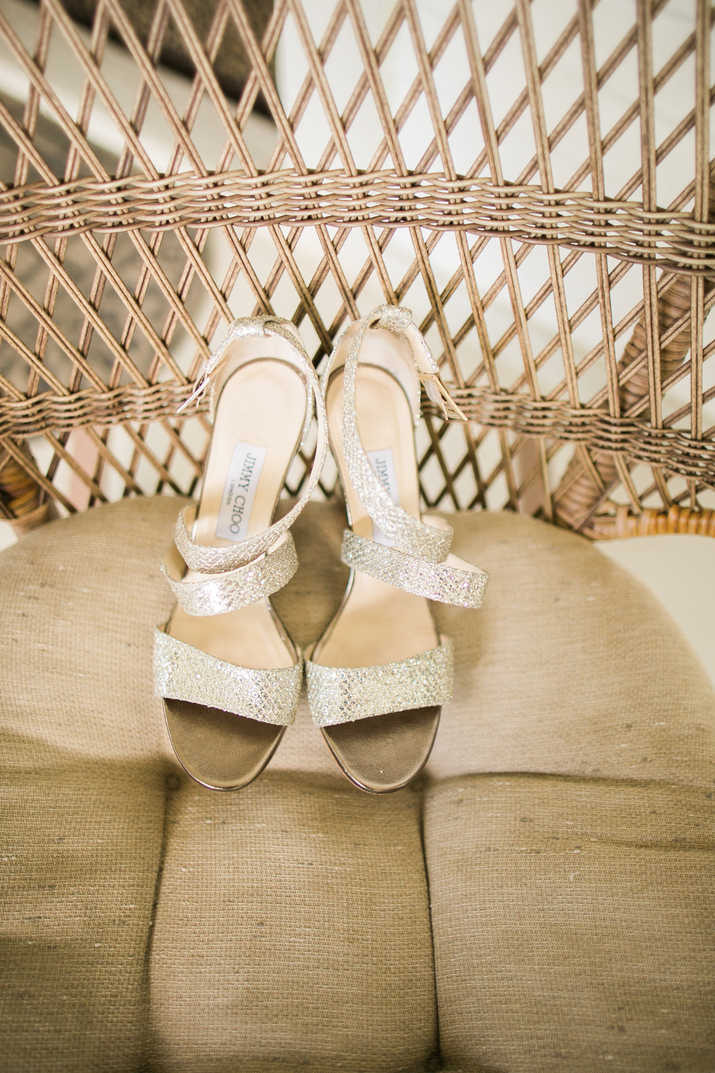 Jimmy Choo wedding sandals | Joanna Tano Photography