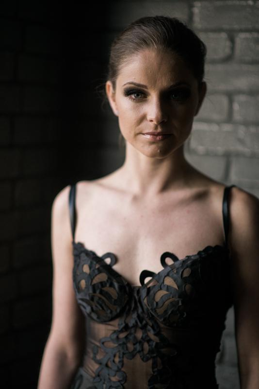 Halloween wedding inspiration |Galia Lahav gown | photo by Andy Barnhart