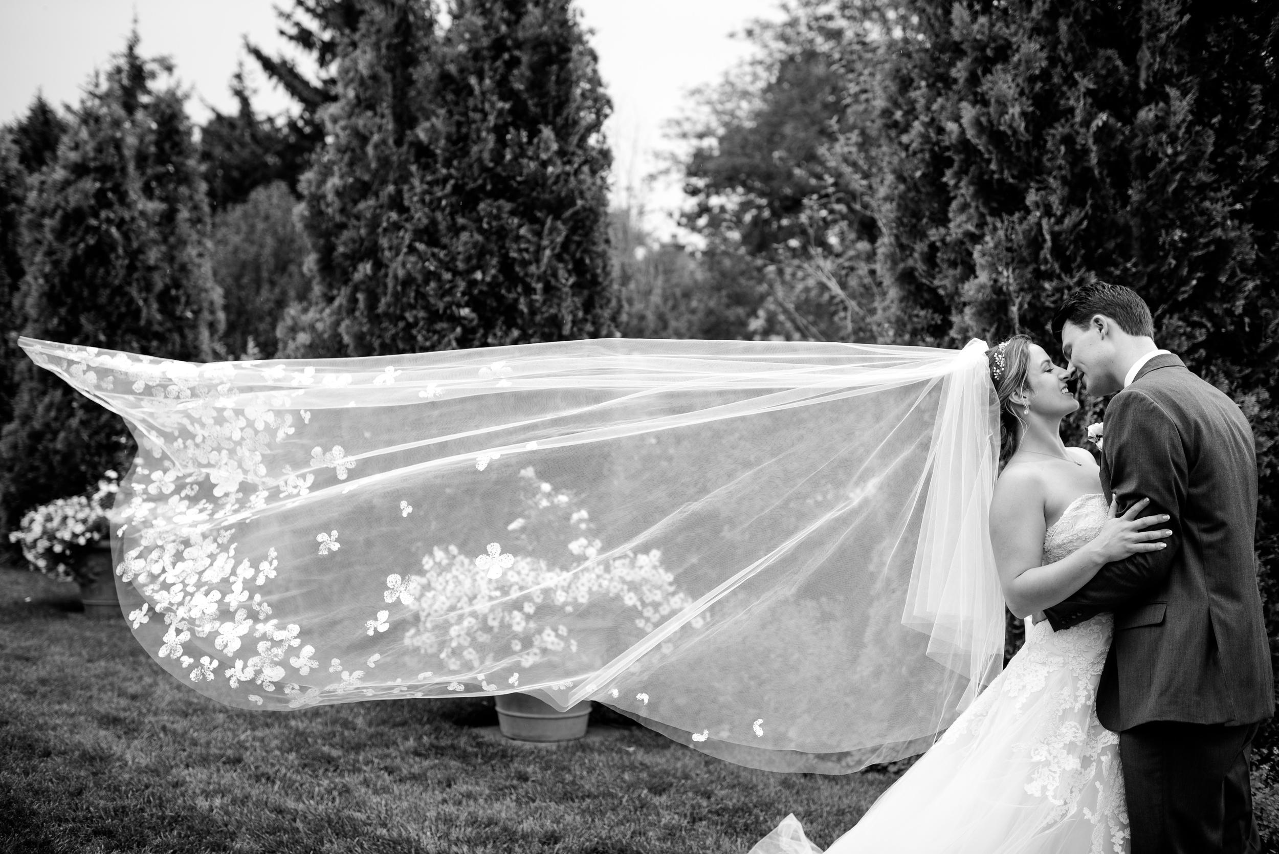Denver Botanic Garden Wedding | Liancarlo gown from Little White Dress | Kara Pearson Photography