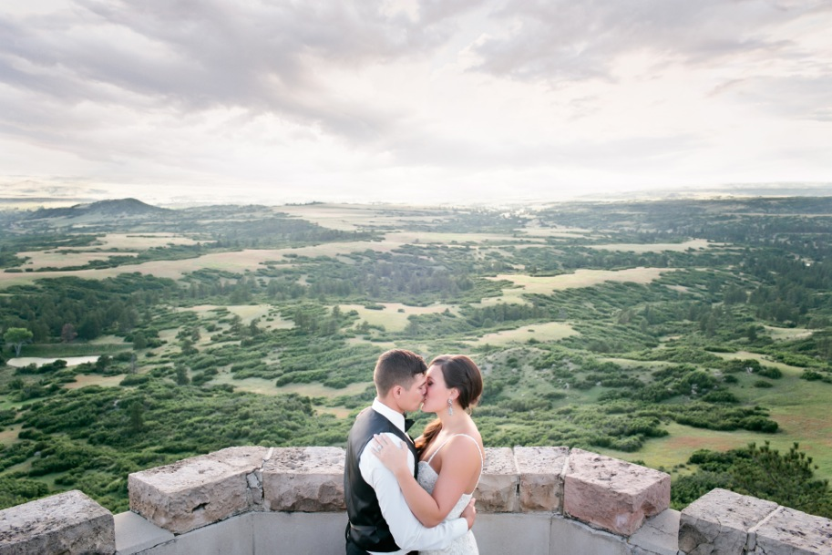 Colorado Wedding | Reem Acra gown from Little White Dress | Liz Cook Photography