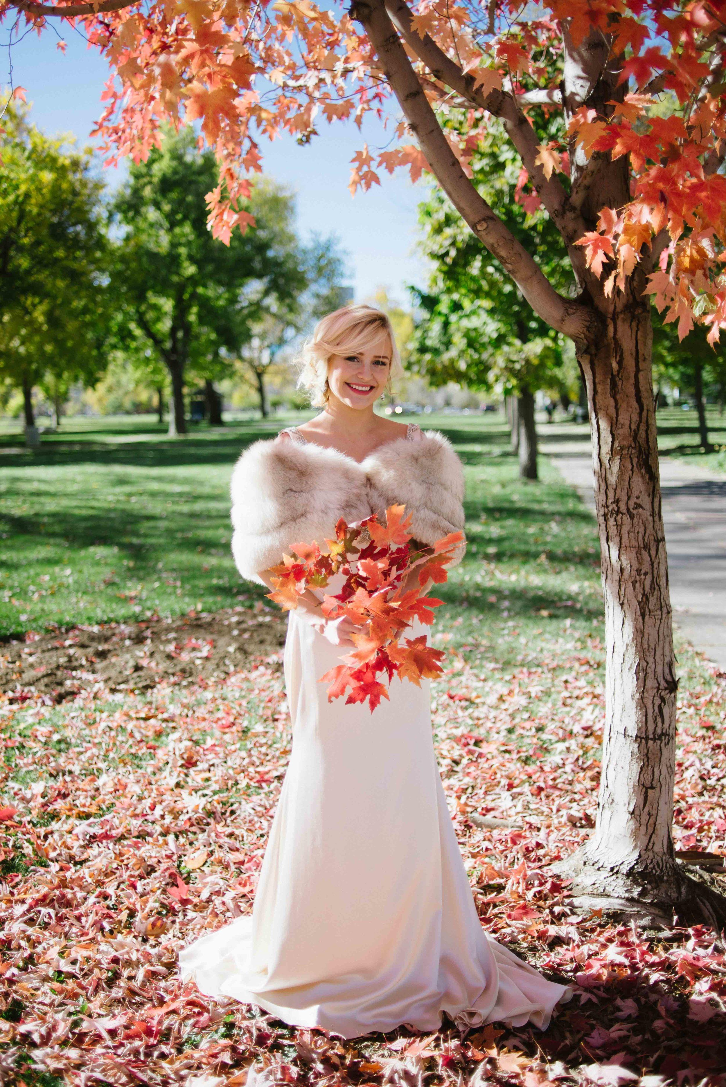 Fall Wedding   Vintage Bridal Fur from Little White Dress Bridal Shop