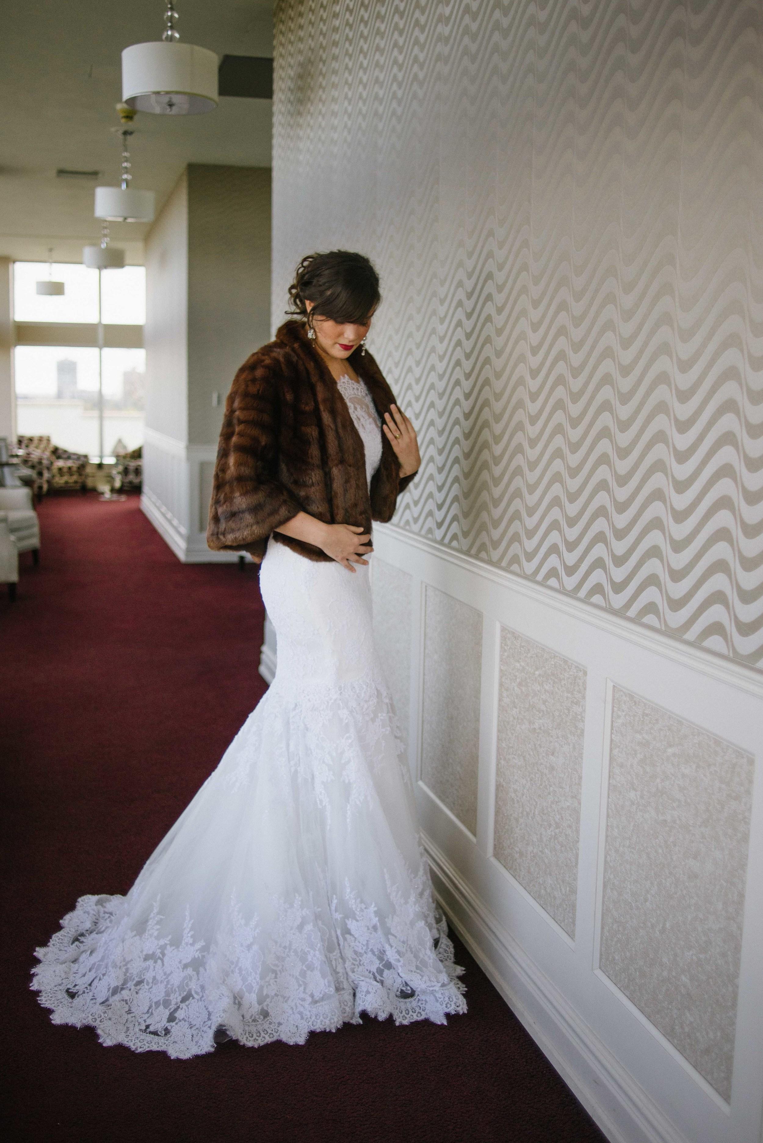 Winter Wedding   Vintage Bridal Fur from Little White Dress Bridal Shop
