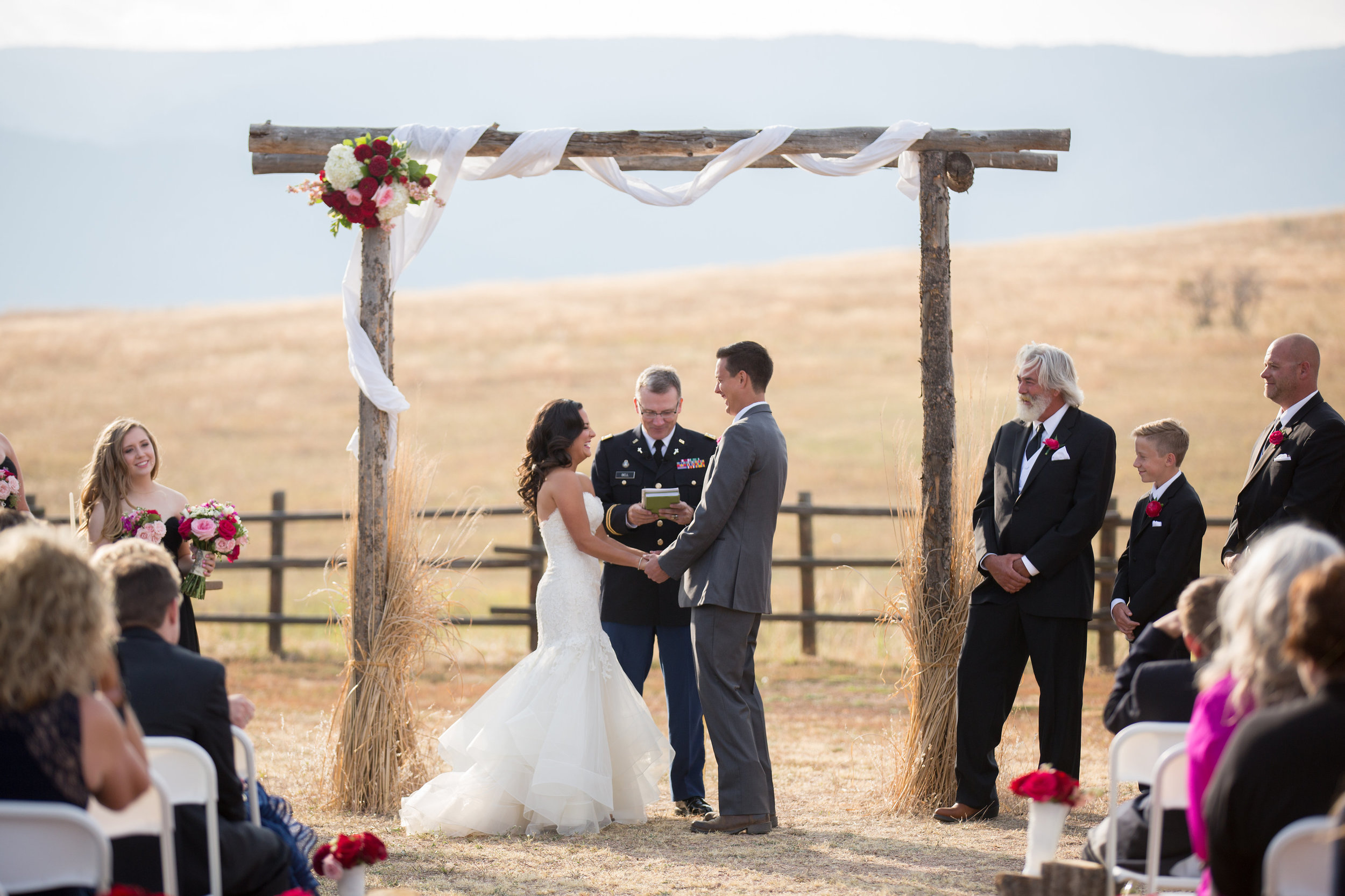 Wiens Ranch Wedding Colorado | Liancarlo 6803 Wedding Gown from Little White Dress | Jamie Beth Photography