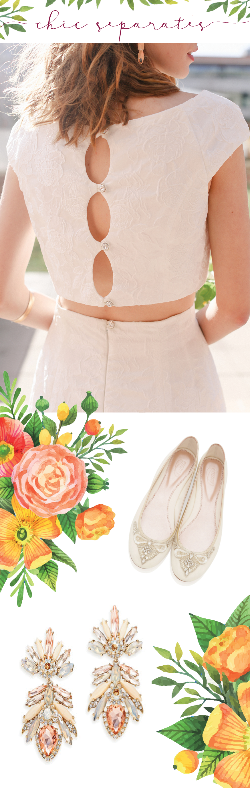 Spring 2016 | Sassi Holford Grace | Emmy London shoes | Marchesa earrings |available at Little White Dress in Denver