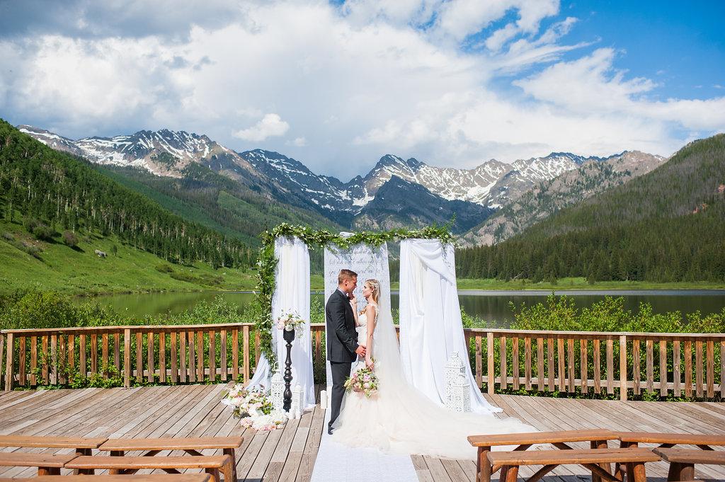 Luxurious Mountain Shoot at Piney River Ranch | Galia Lahav available at LIttle White Dress, Denver Colorado | Candice Benjamin Photography