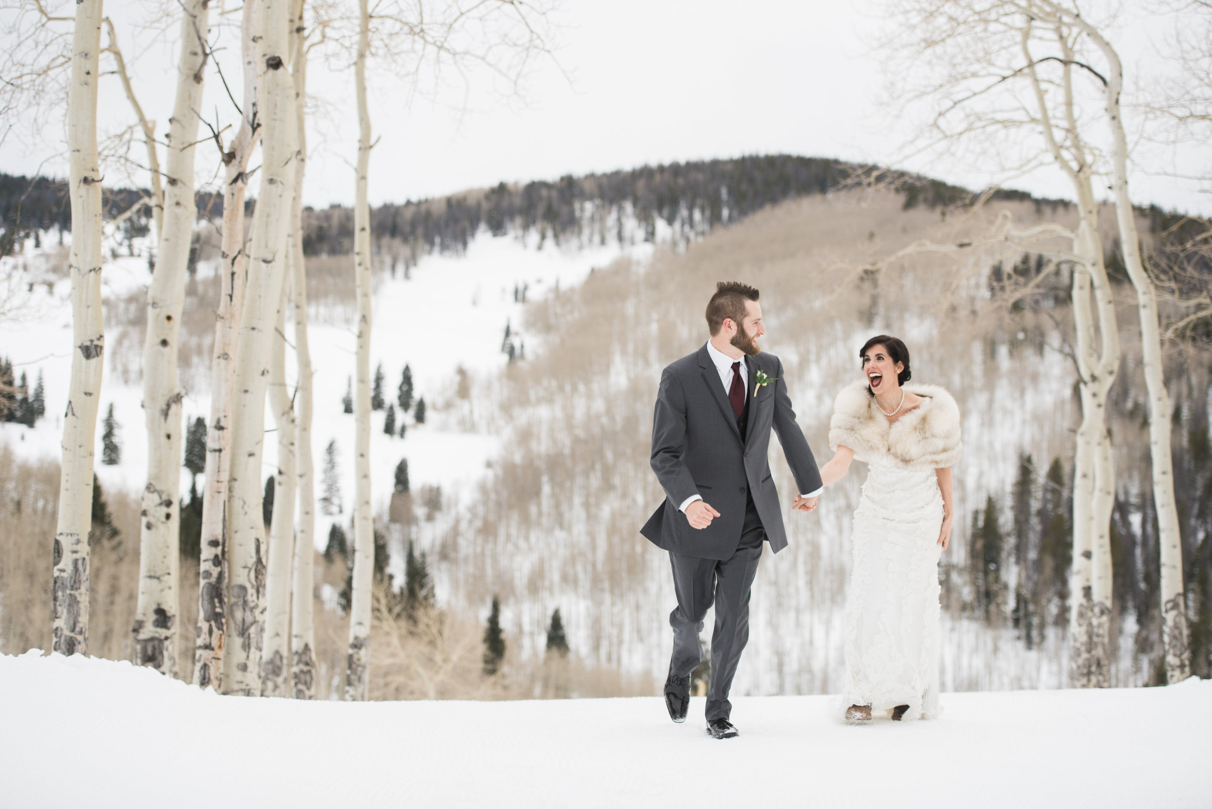 Beaver Creek Mountain wedding | Robert Bullock Bride gown and Love veil from Little White Dress Bridal Shop in Denver | Ali & Garrett Wedding Photographers