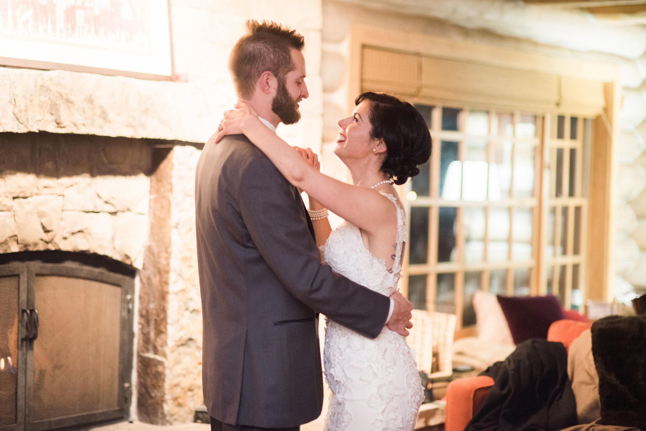 Beaver Creek Mountain wedding | Robert Bullock Bride gown from Little White Dress Bridal Shop in Denver | Ali & Garrett Wedding Photographers
