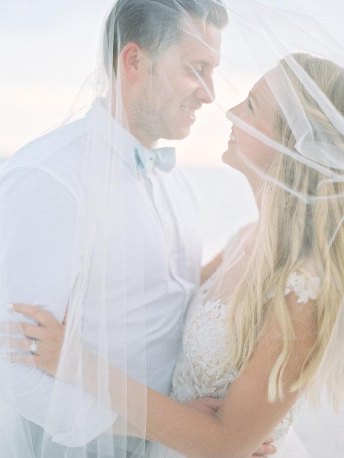 Elle + Adam   Reem Acra custom gown from Little White Dress Bridal Shop in Denver   Lauren Kinsey Photography
