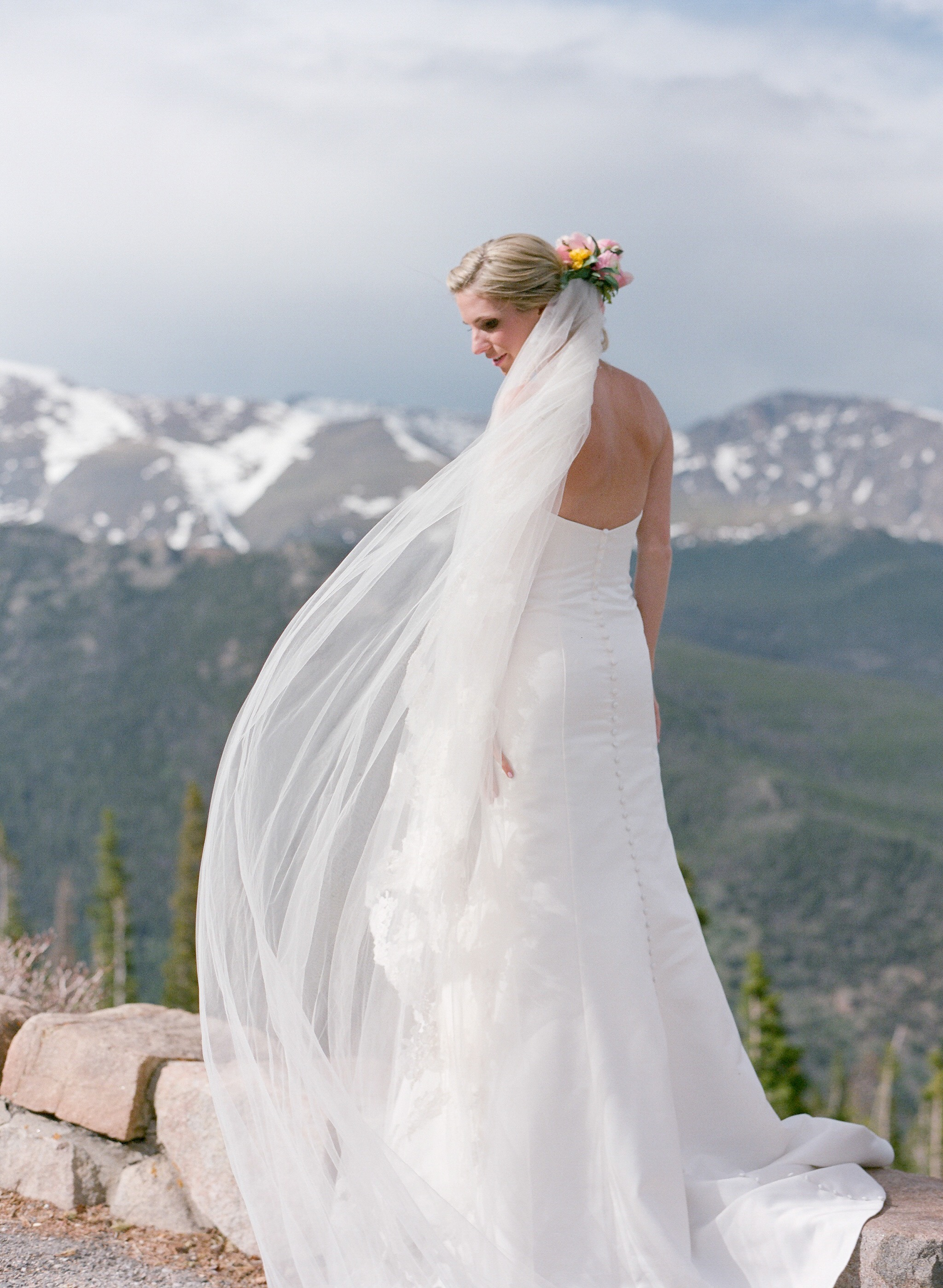 "Kellie + Rob | Della Terra Mountain Chateau | wedding gown ""Sarah"" by Robert Bullock Bride and belt by ""Sassi Holford"" 