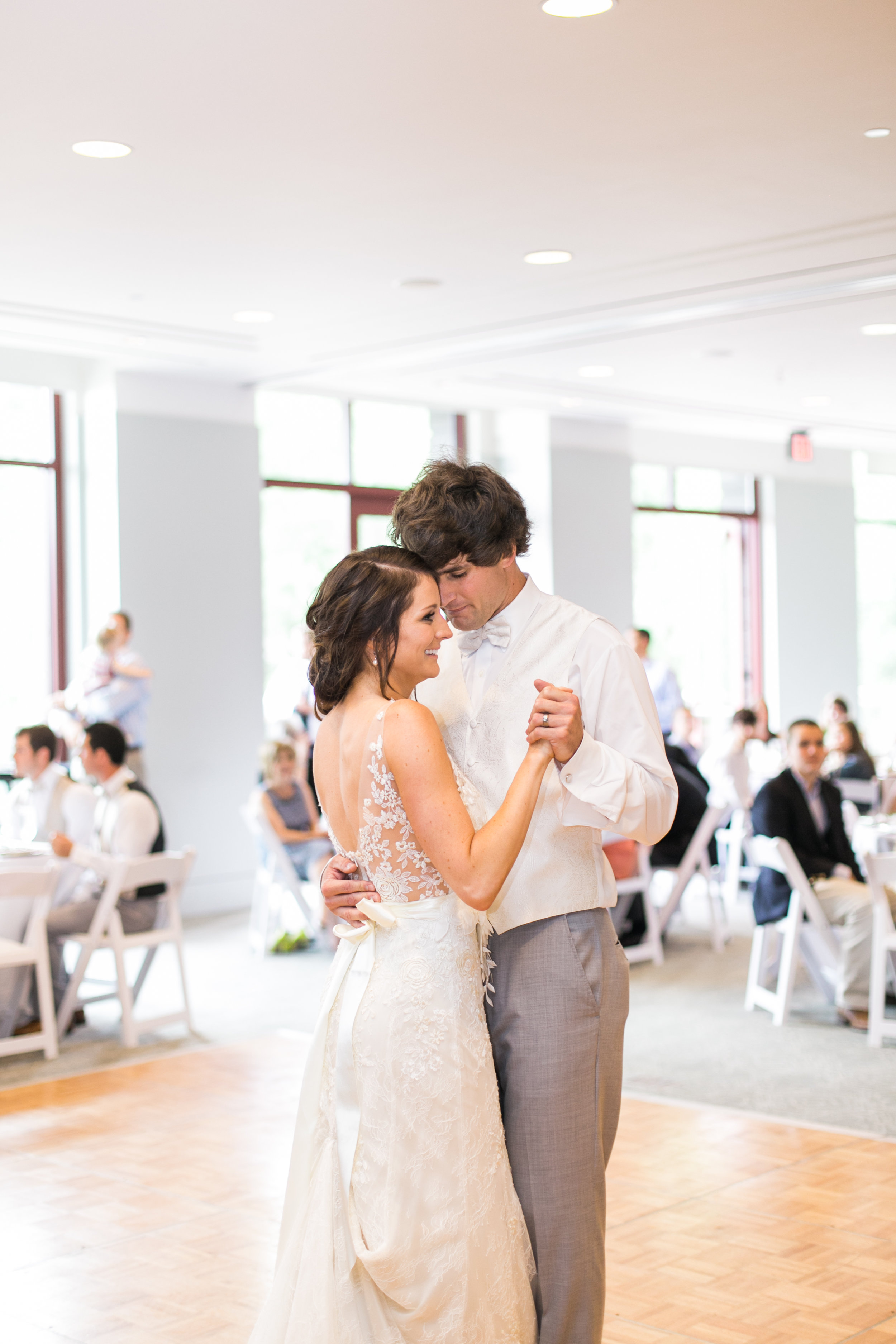 Leslie + Tyler | Liancarlo 6815 gown and Sassi Holford sash both from Little White Dress Bridal Shop in Denver | Cassidy Brooke Photography