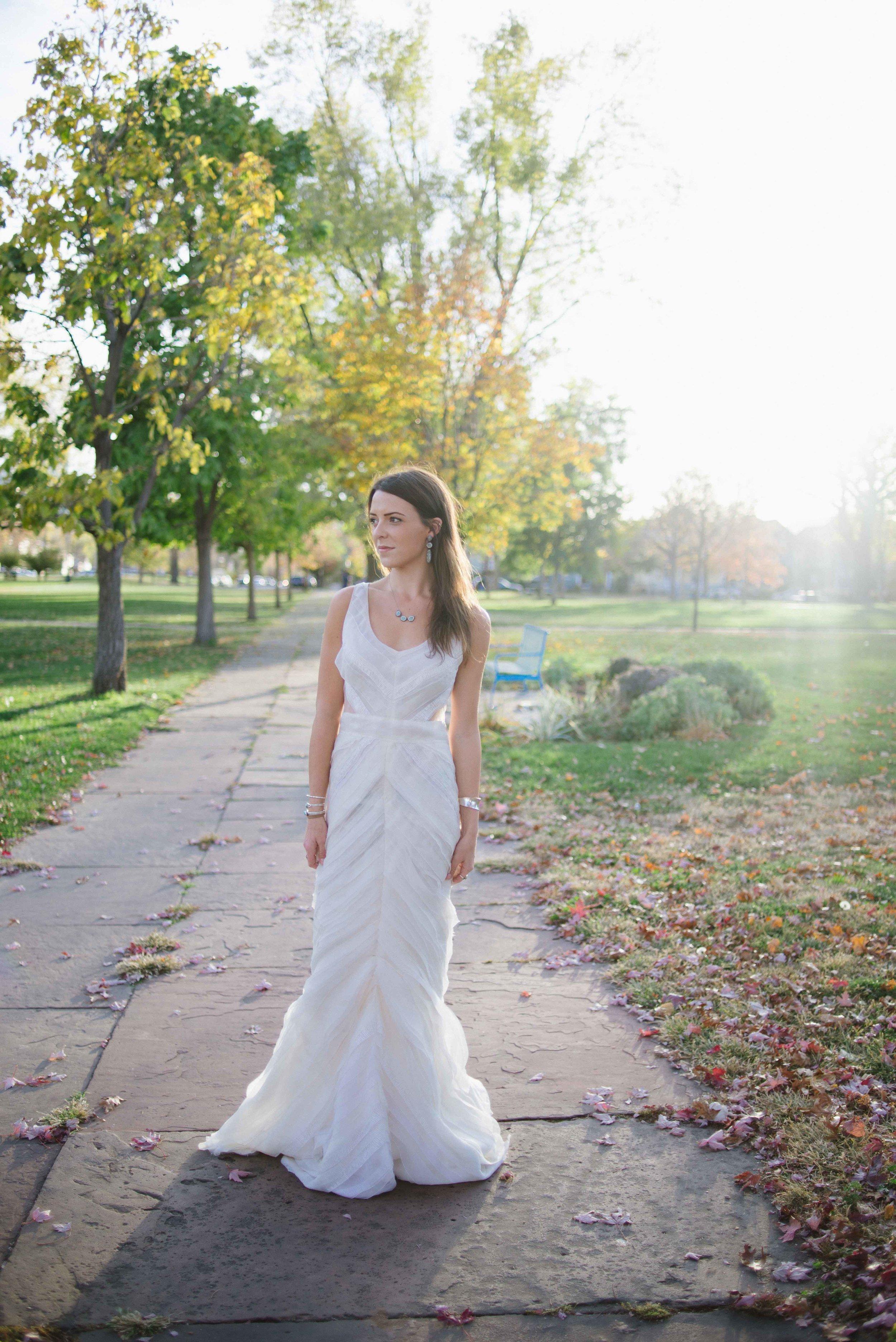 """Fall Wedding Inspiration   J. Mendel """"Zoe""""   available at Little White Dress Bridal Shop in Denver   Photography: Kelly Leggett"""
