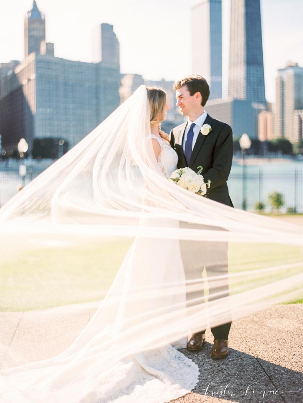 Lauren + Brendan | Chicago wedding | Liancarlo 5802 from Little White Dress Bridal Shop in Denver | Kristin La Voie photography