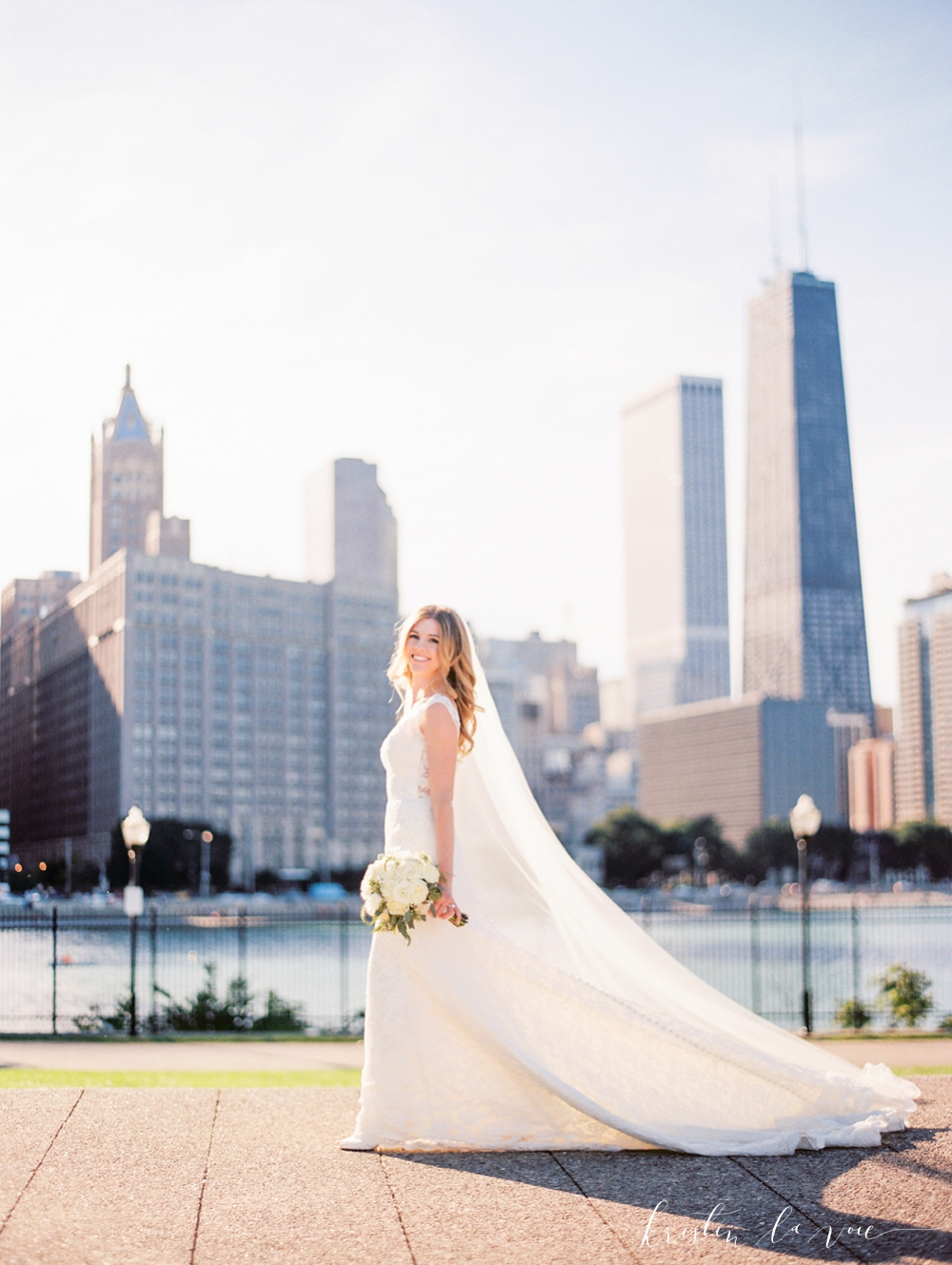 Lauren + Brendan | Chicago wedding | Liancarlo 5802 from Little White Dress Bridal Shop in Denver | Kristin La Voie photography