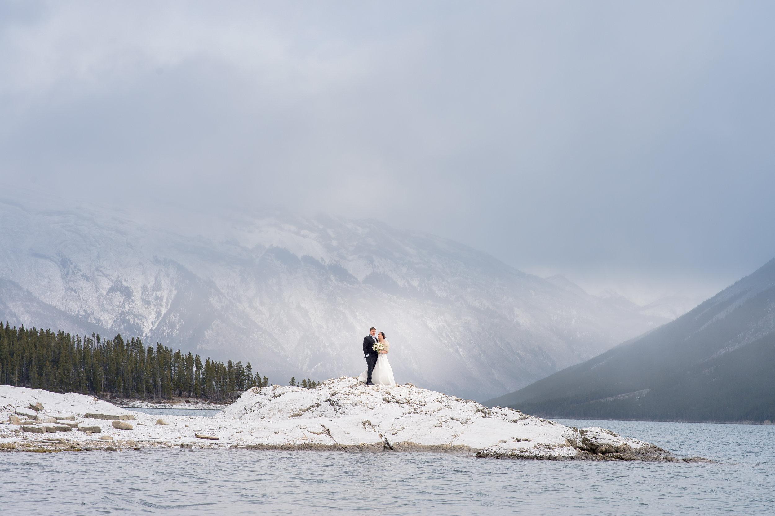 Banff, Canada winter wedding