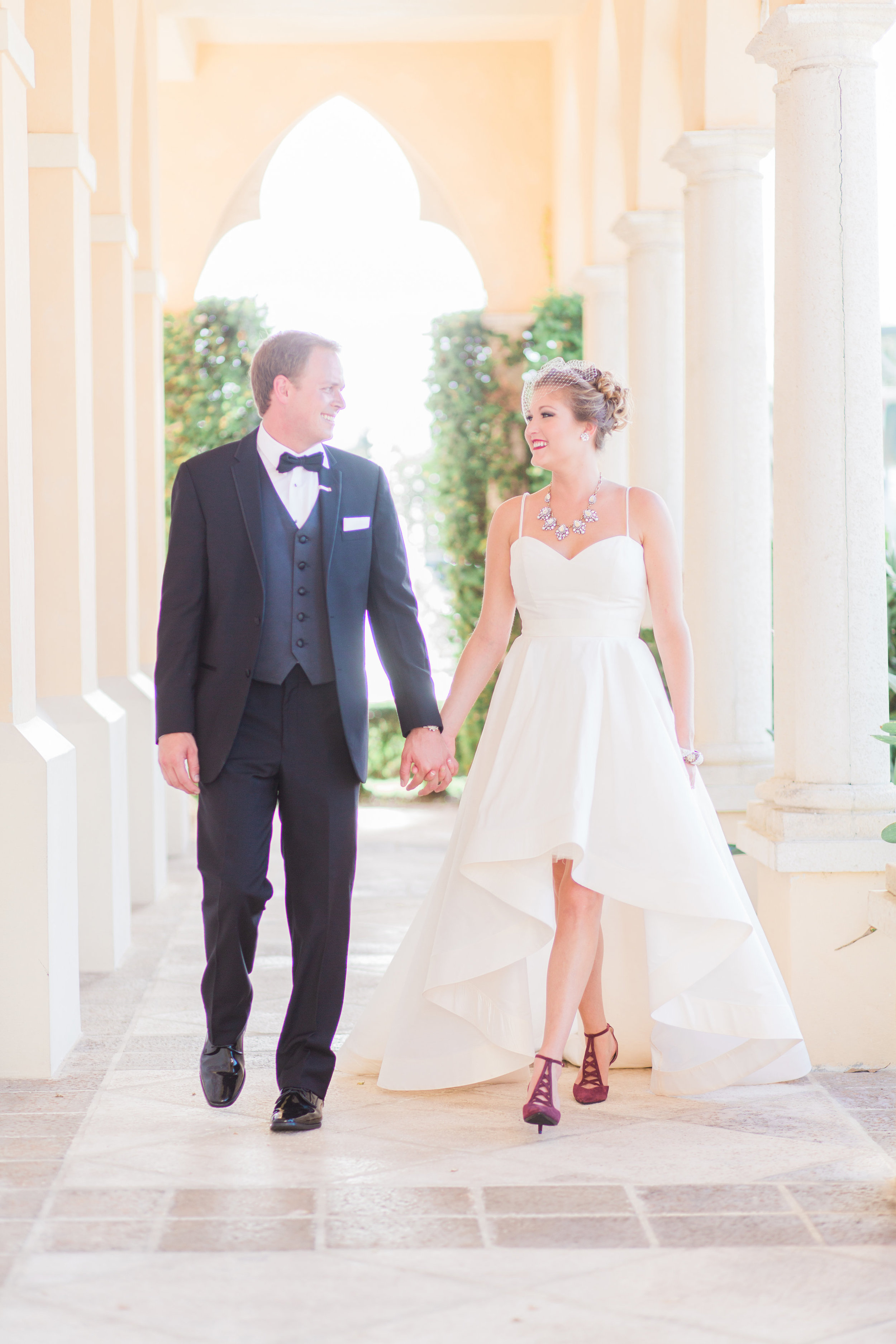 Anne Barge Ryland gown from Little White Dress in Denver   Boca Raton, Florida wedding at The Addison   Thompson Photography Group