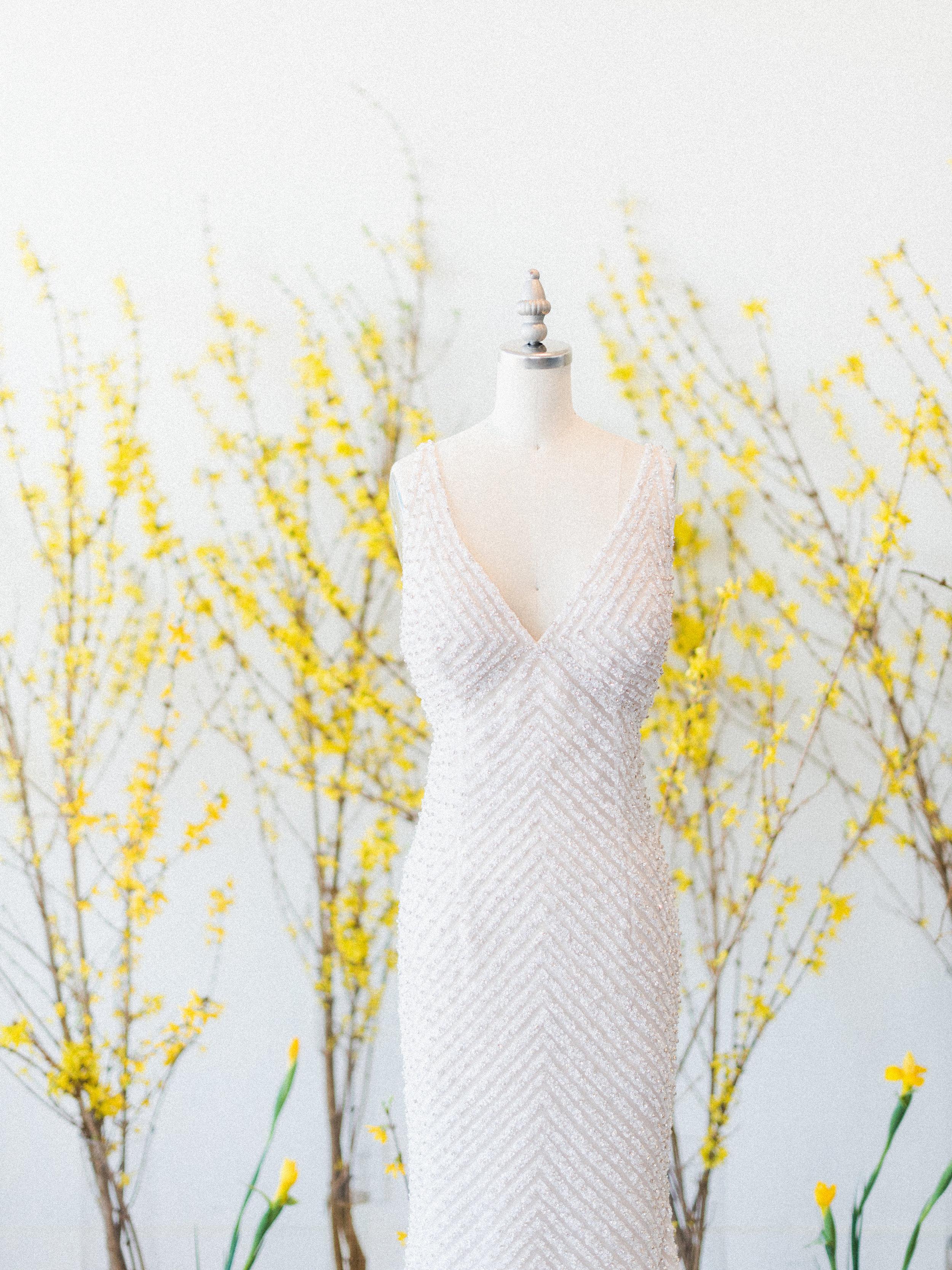 "Naeem Khan ""Sunset"" wedding dress | Spring Bridal Inspiration from Little White Dress Bridal Shop in Denver, Colorado | Decorus Photography"