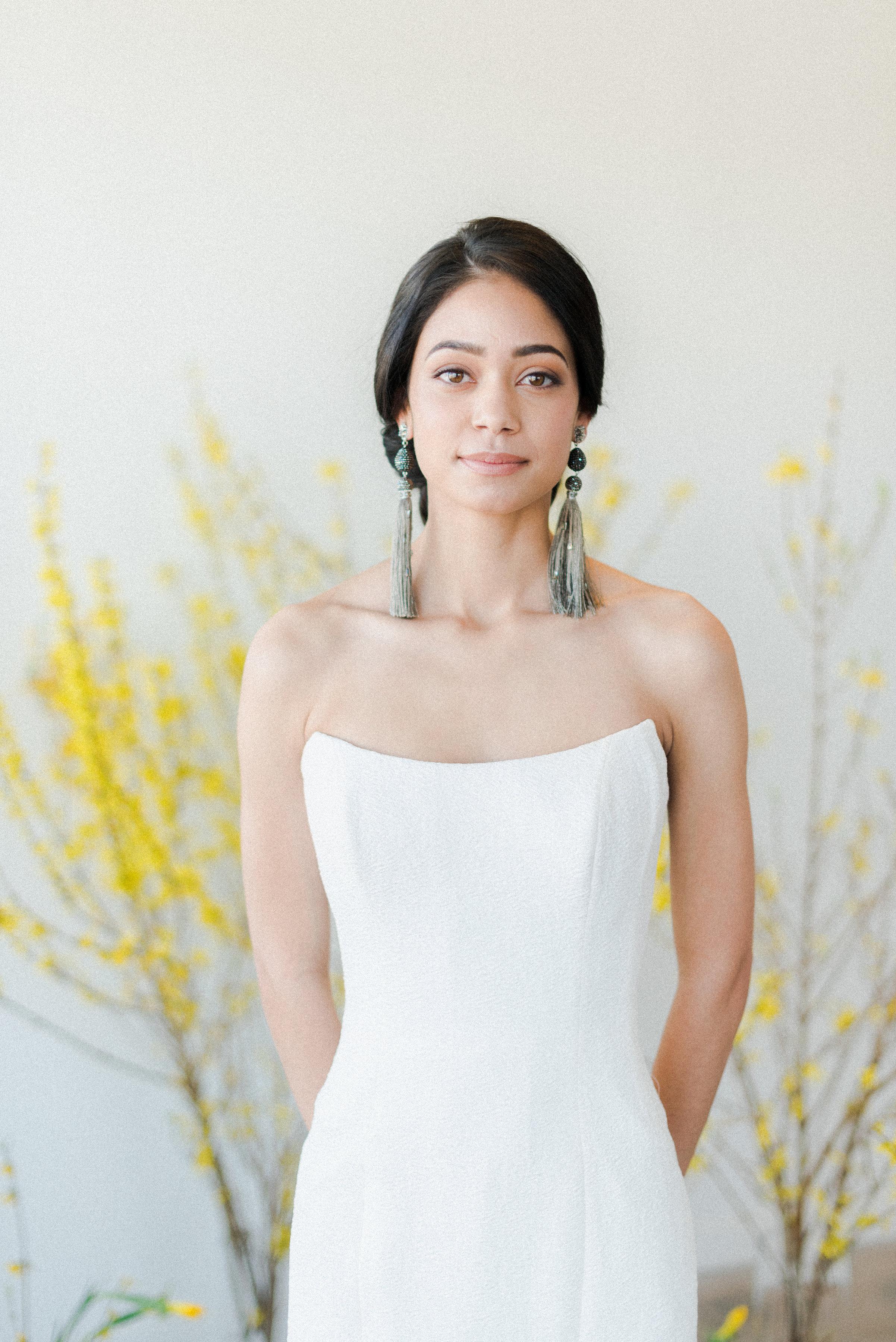 "Sassi Holford ""Astrid""wedding dress | Spring Bridal Inspiration from Little White Dress Bridal Shop in Denver, Colorado | Decorus Photography"