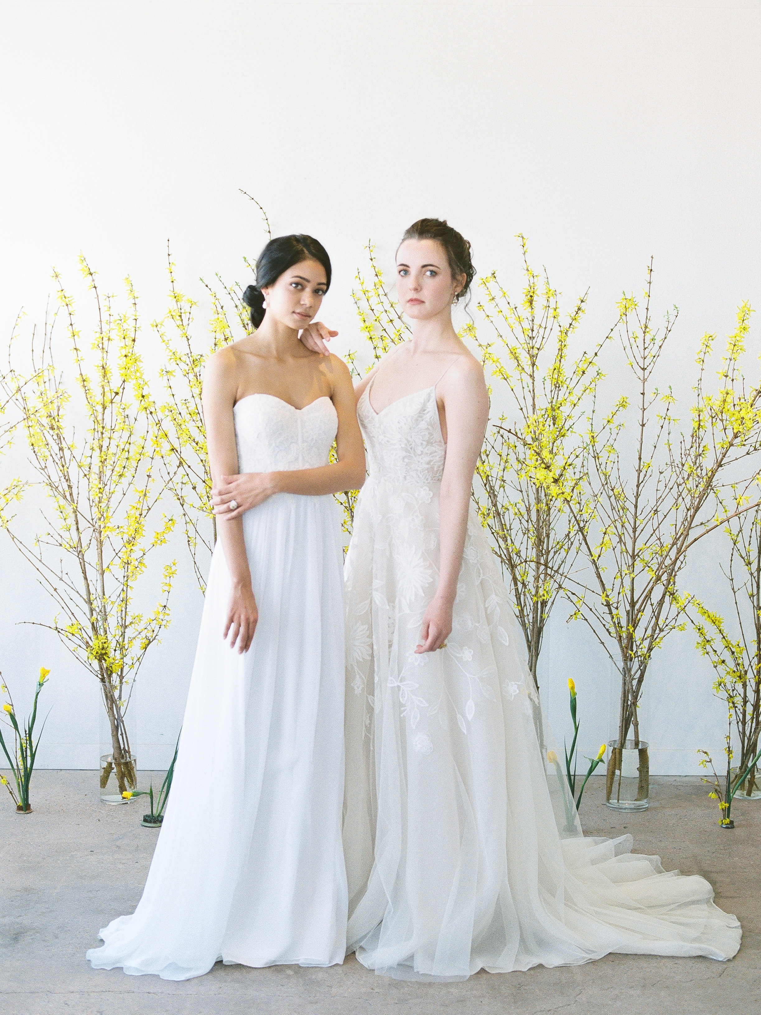 """Anne Barge """"Lily"""" and Lela Rose """"The Altar"""" wedding dresses 