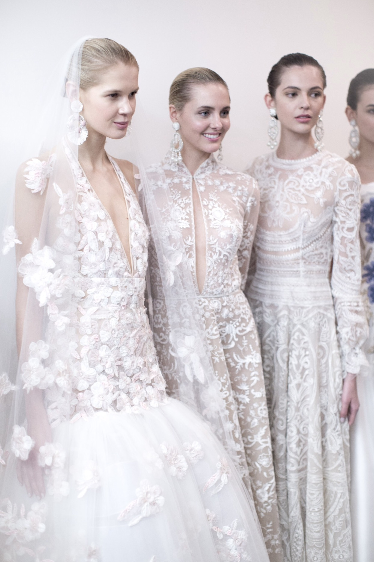 High-end, handmade wedding gowns by Naeem Khan available at Little White Dress Bridal Shop in Denver, Colorado.