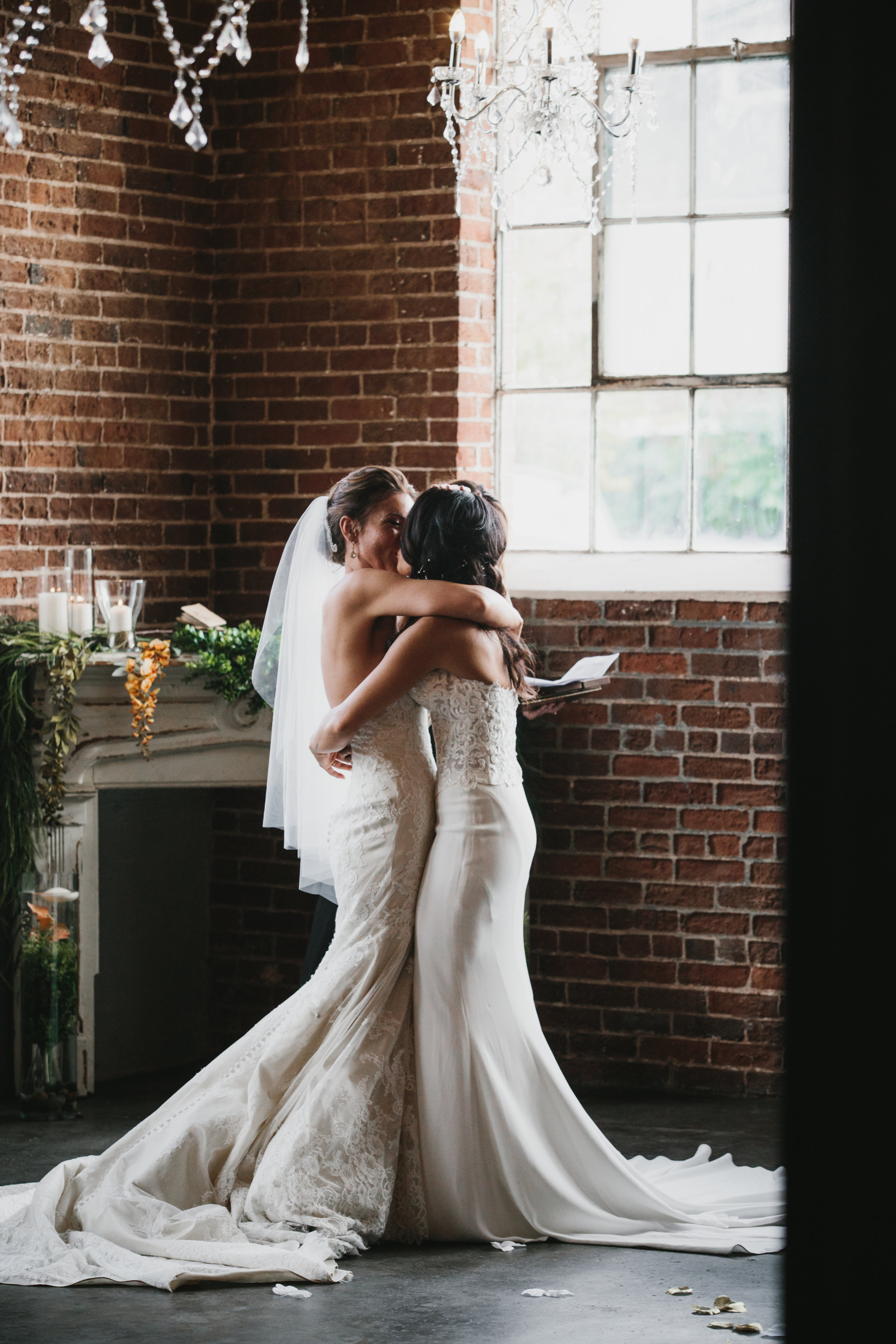 Emily + Jovan | Denver Union Station Wedding | Matthew Christopher Cosette gown from Little White Dress Bridal Shop | Photo by We Are Matt + Jess