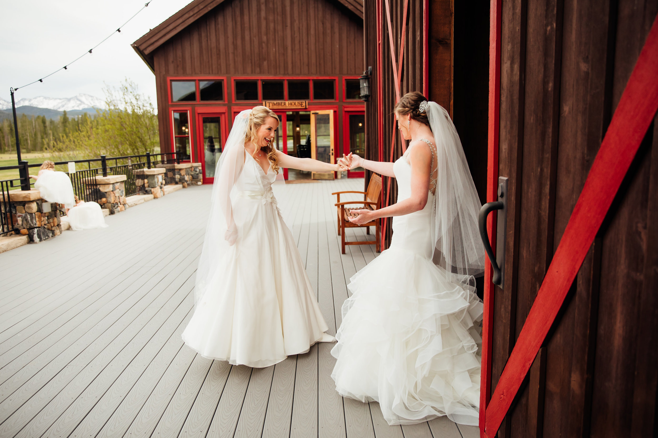 Devil's Thumb Ranch Wedding, LGBT Wedding, Denver Bridal Shop, Sassi Holford