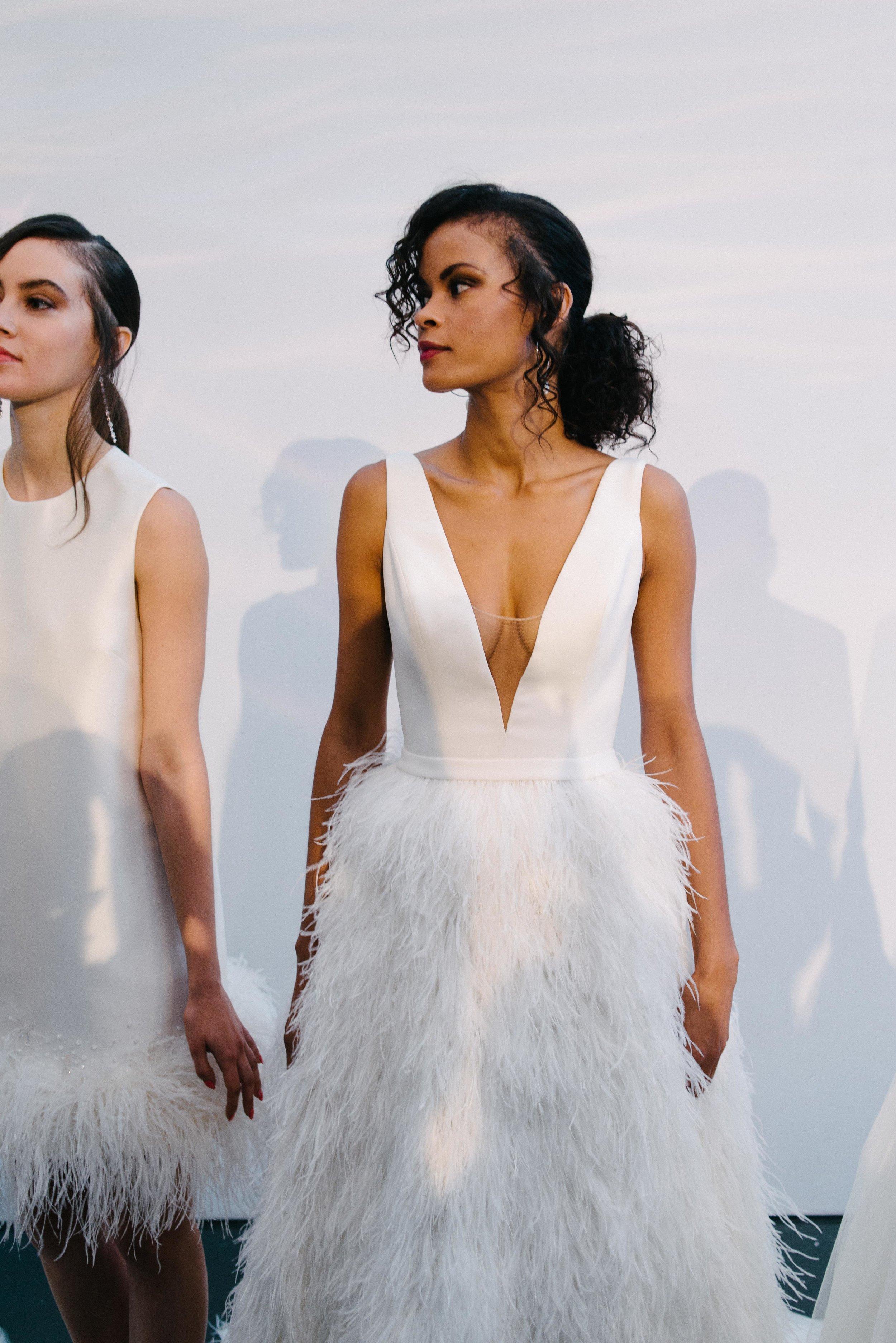 Bridal Fashion Week Trends 2019, New York Bridal Fashion Week, Bridal Market, Feathers