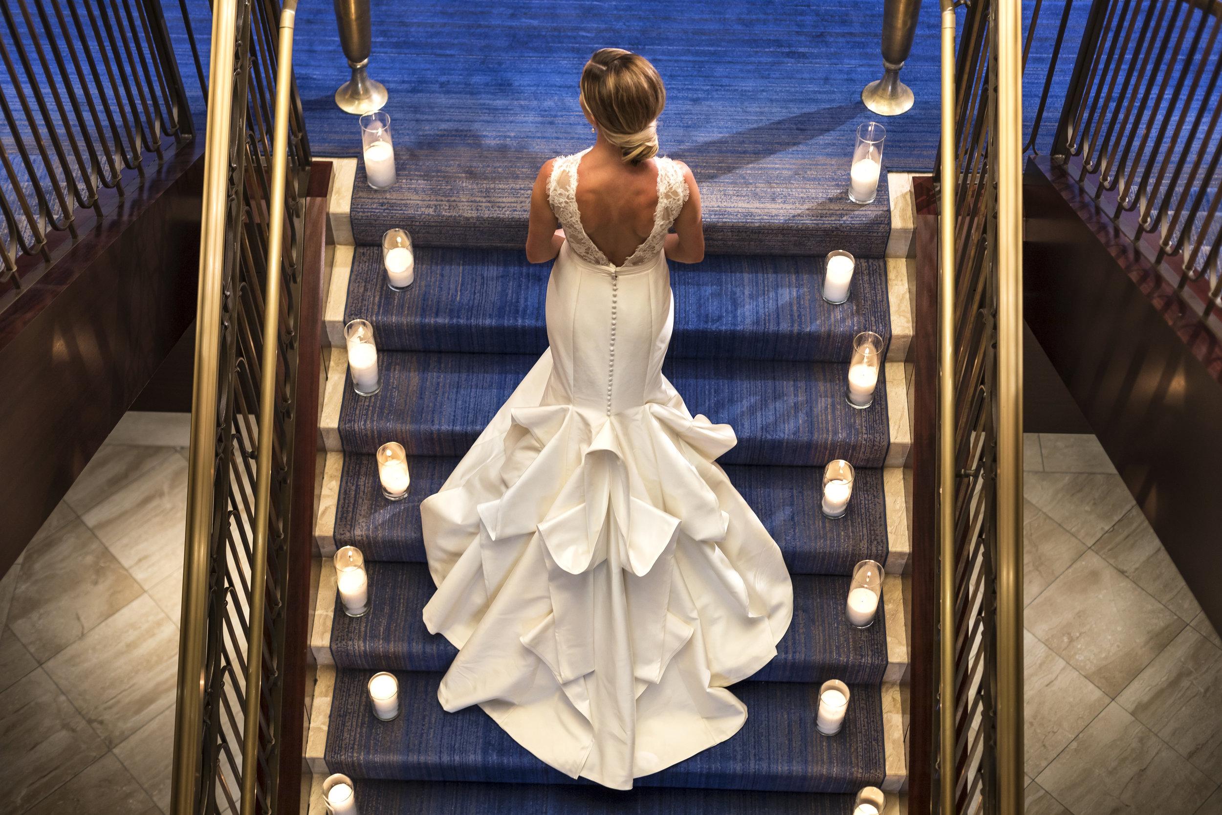 The Ritz-Carlton, Denver Weddings - Bride & Grand Staircase 1.jpg