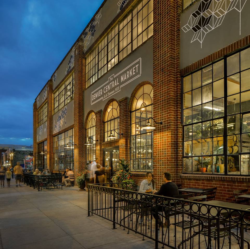 Denver Central Market - Meat and fish counters plus a greengrocer, bakery, pizzeria & much more in an airy marketplace.