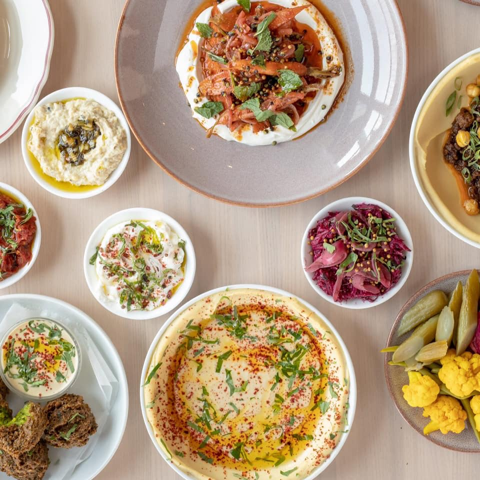Safta - Stylish, airy stop in the Source Hotel for modern Middle Eastern grub such as wood-fired pita bread.