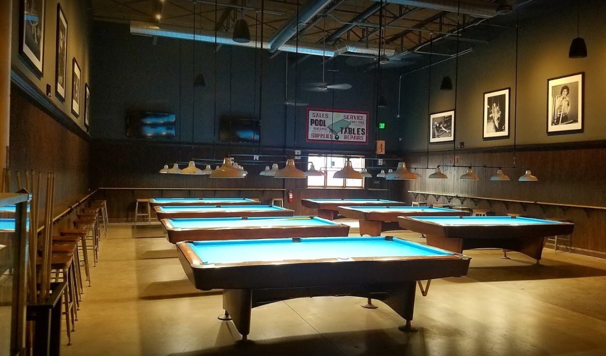 Gerards Pool Hall - Denver's best billiards bar showcasing the rich history of the Rocky Mountain cue sport. Featuring a full bar with handcrafted specialty cocktails and a variety of beer and wine options.