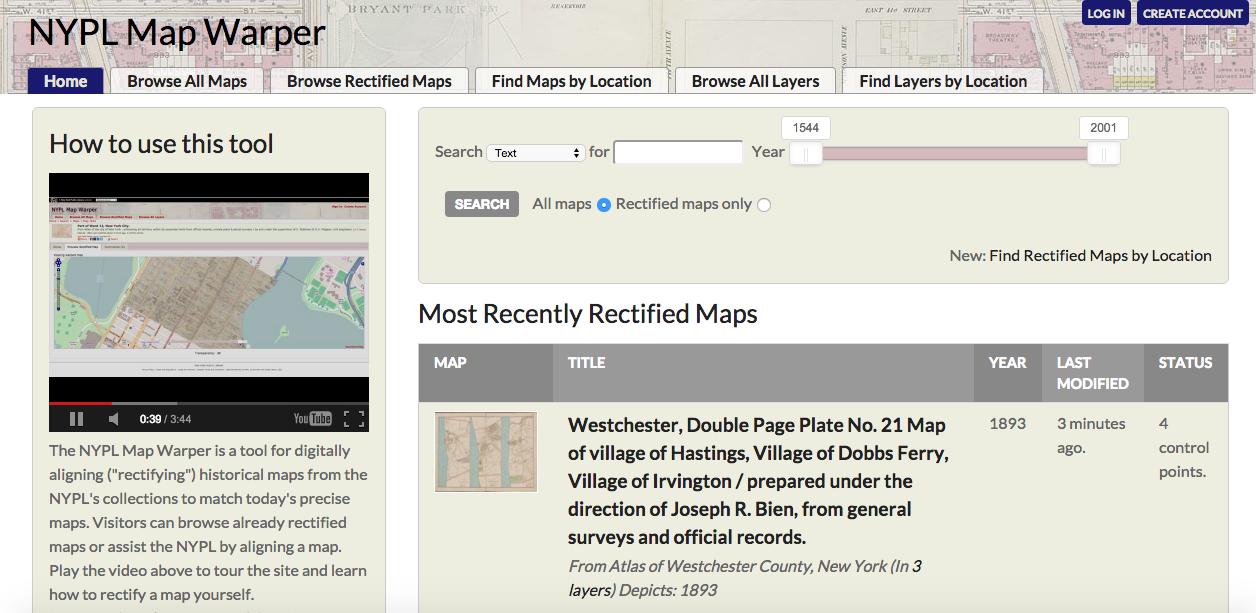 The  NYPL Map Warper  tool