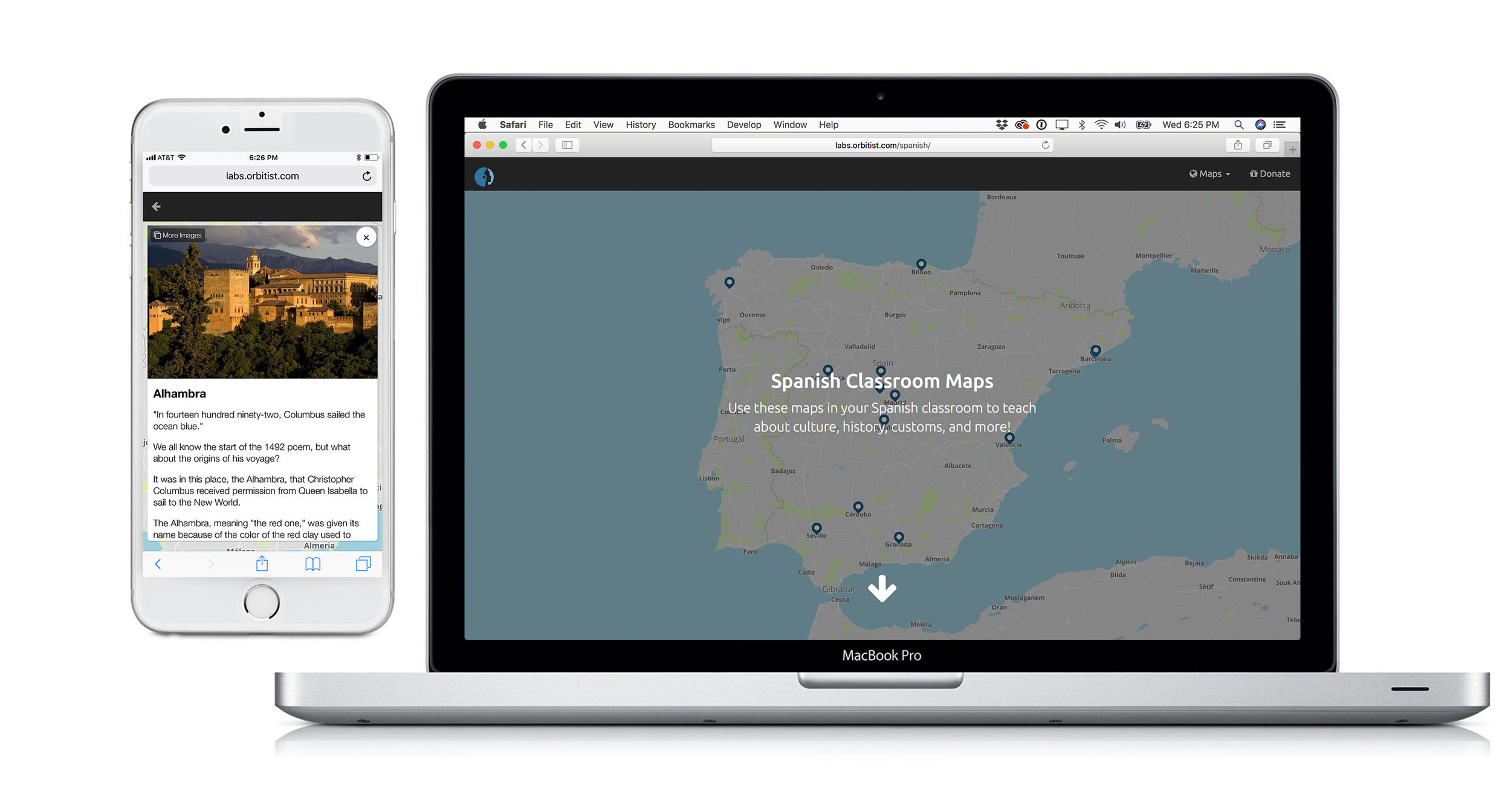 Spanish Classroom Mapping Application