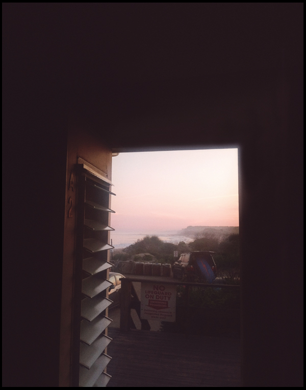 Last summer looks and lobster rolls, room view from our favorite motel, Montauk. Photo by me.