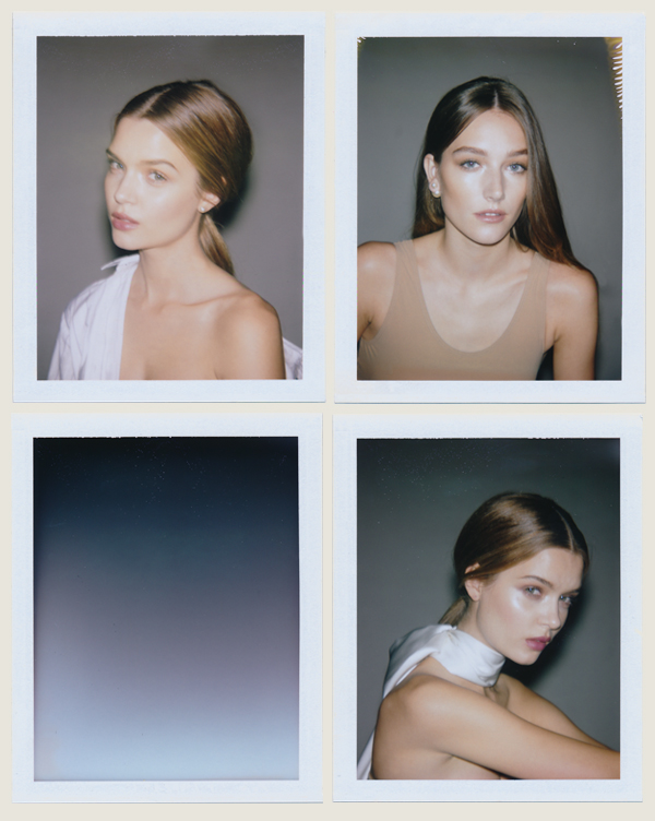 Polaroids and styling by me, Joséphine + Josephine shooting with Andrew. Hair by  Lizzie Arneson  , Makeup by  Samantha Lau.