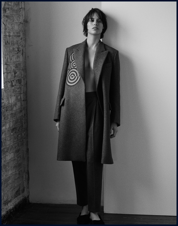 Photo by  Andrew Stinson.  Styling by  Alicia Yates.  Alana is wearing a Dries Van Noten coat and trousers, Céline slip on loafers.Creative by me. More soon.