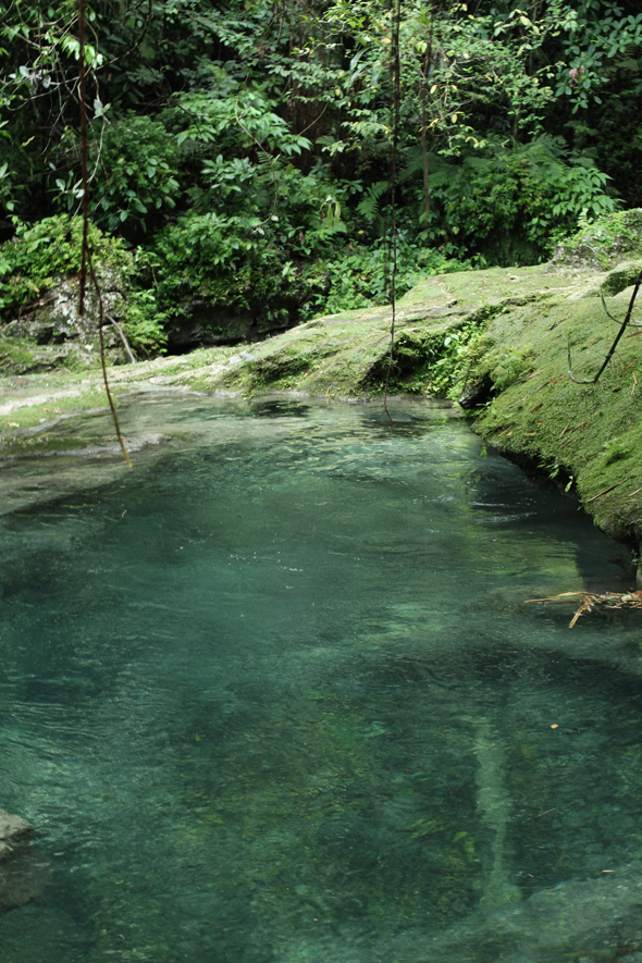 Cool crystalline pools at the top of Reach Falls