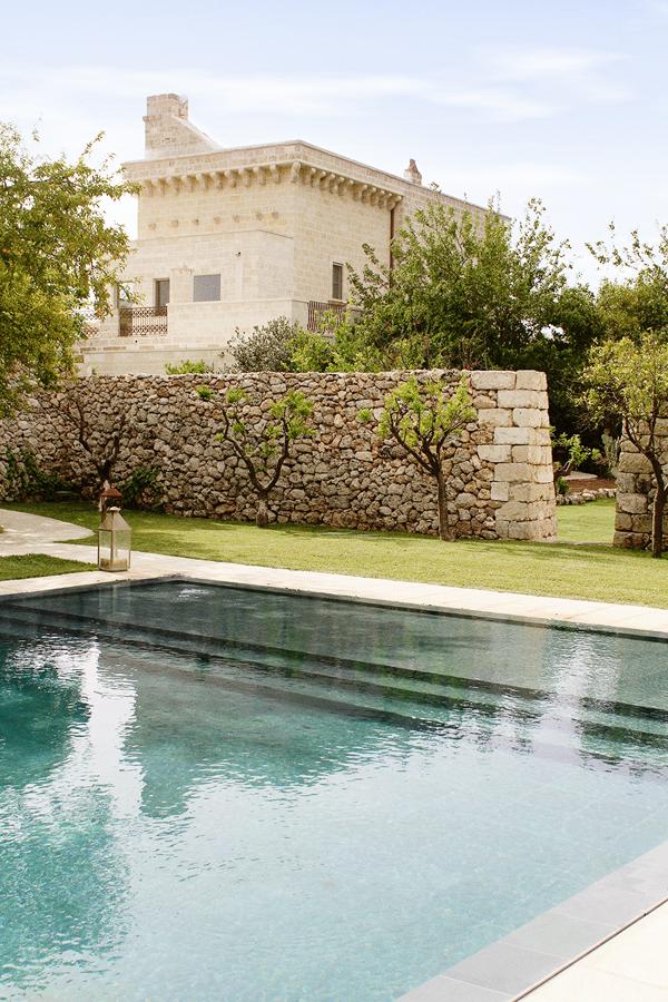 Poolside at Masseria Trapana