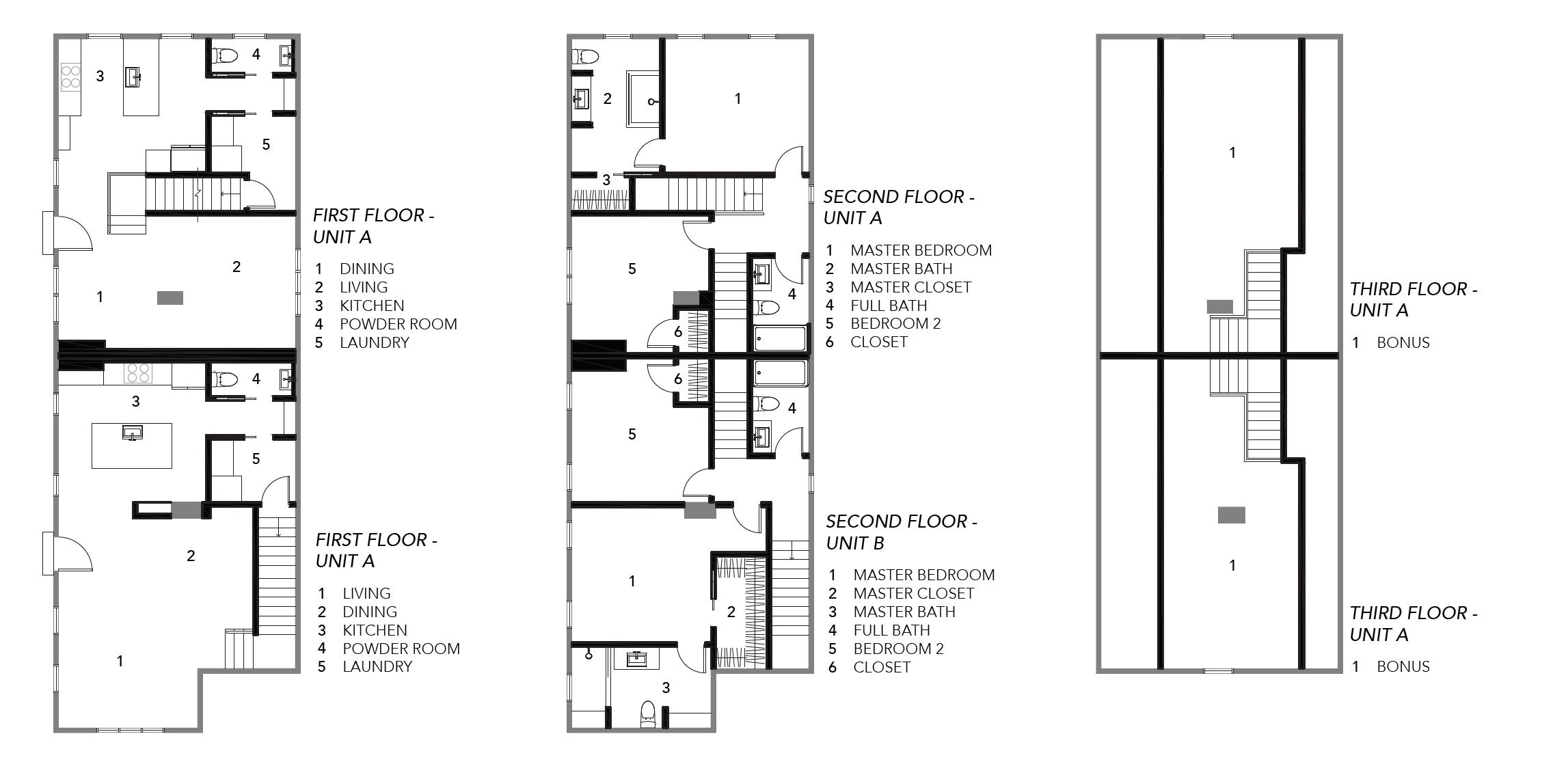 Townhome floor plan