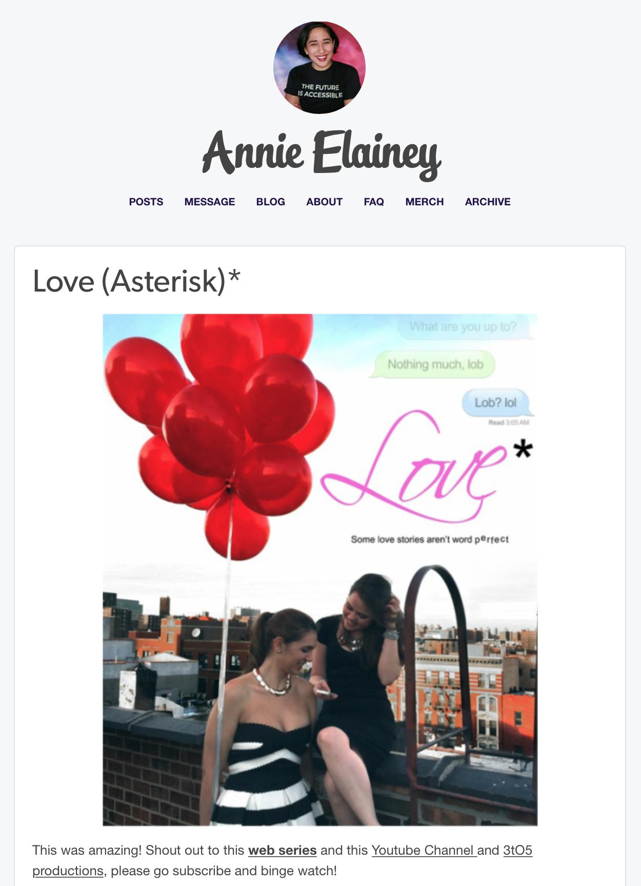 - annie elainey, blogger