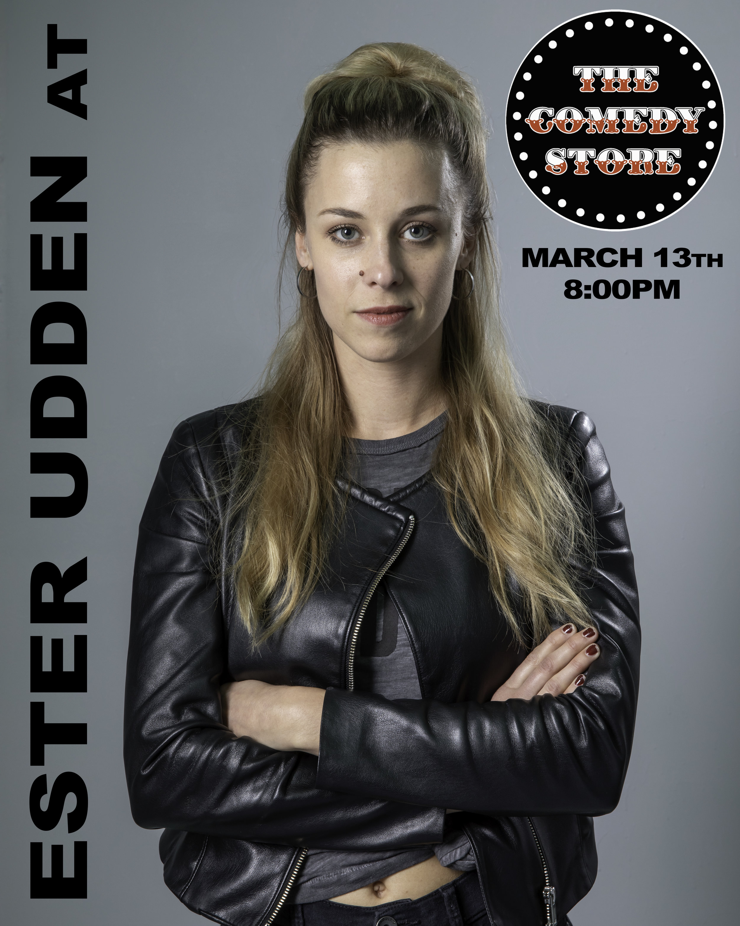 Ester Uddén @ The Comedy Store in the Original room  Photo by: Tanne Willow