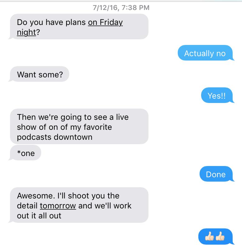 Actual text