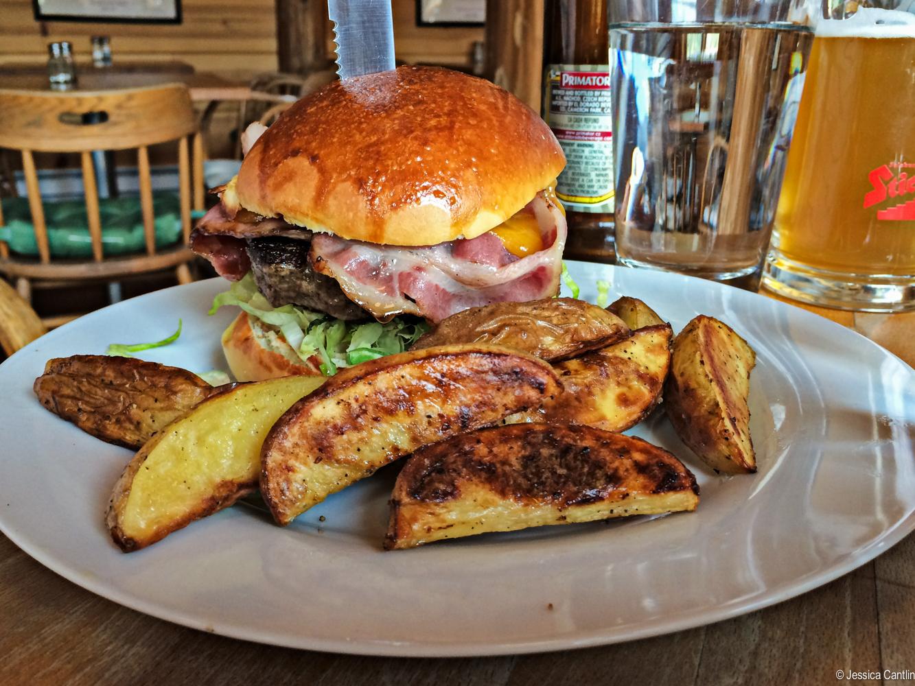 The burger at Kelly's.