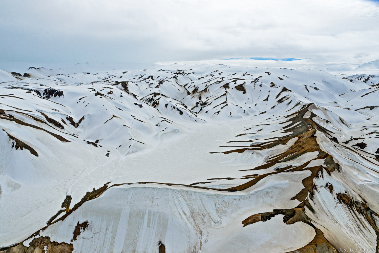 Aerial View of Landmannalaugar