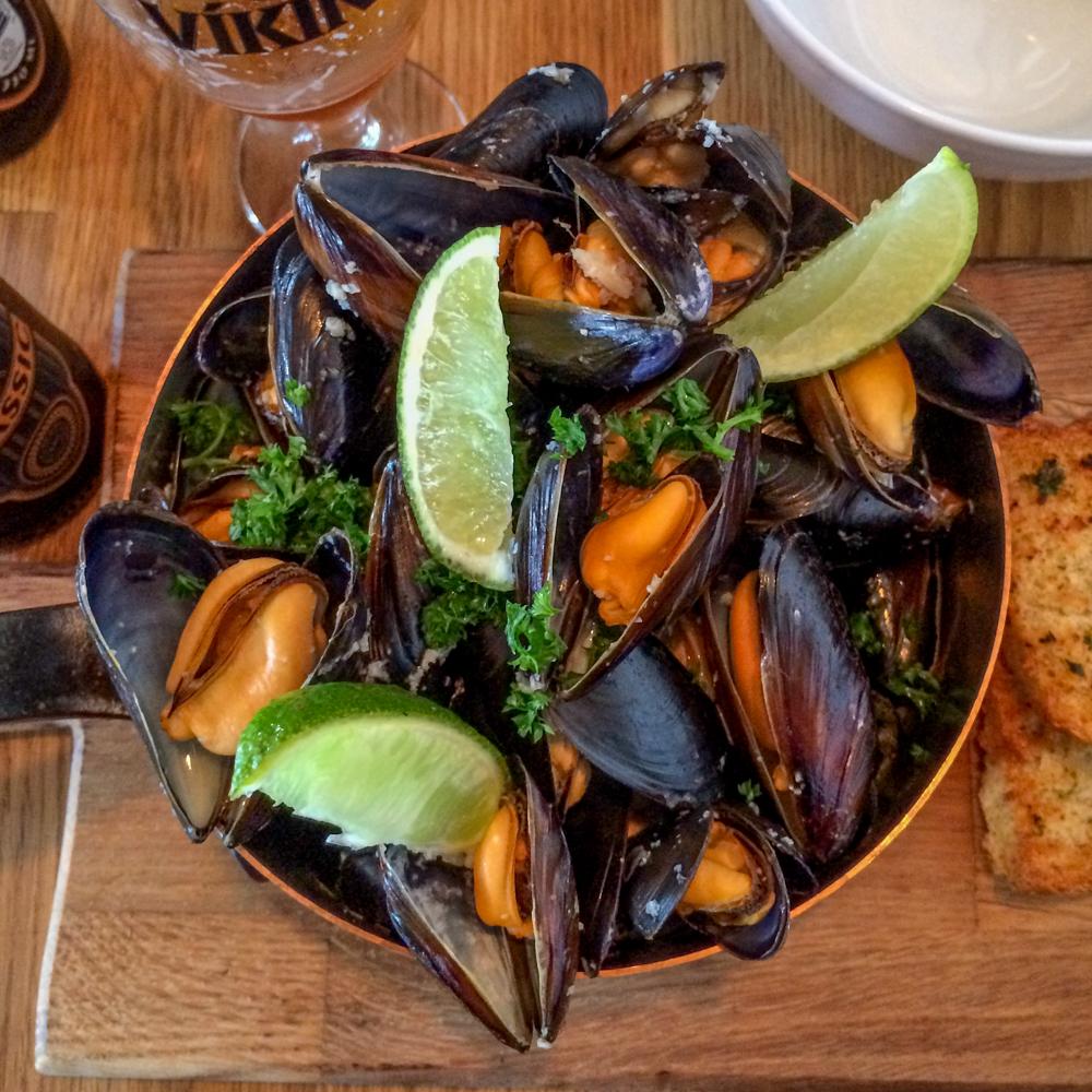 Mussels at Sjavarpakkhusio