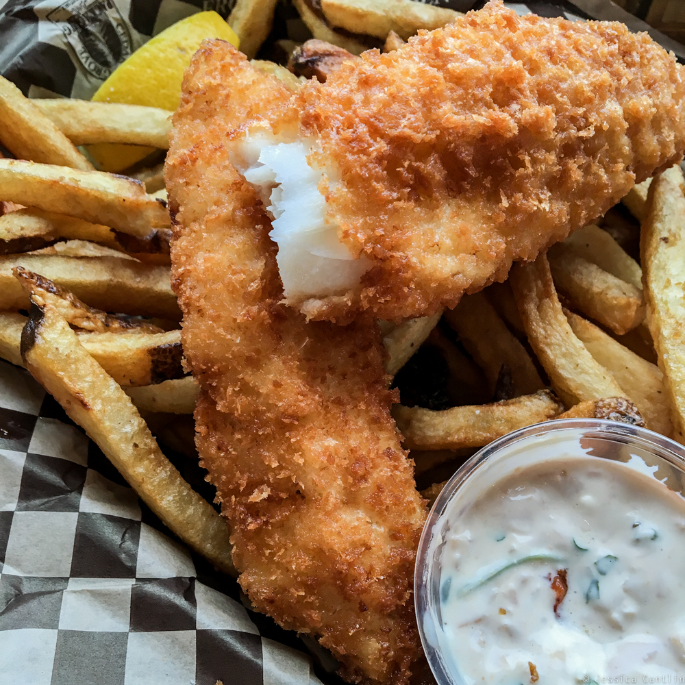 Fish and Chips at Marination in West Seattle