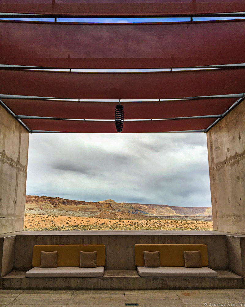 View from the entrance to Amangiri.